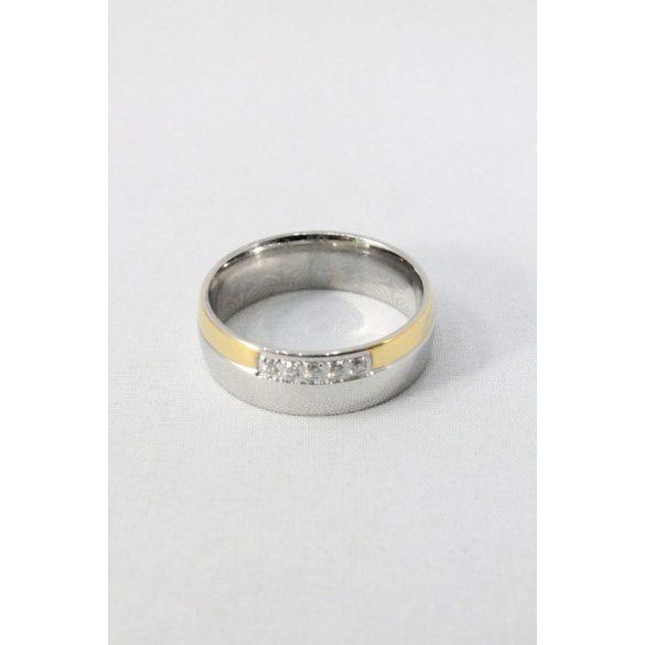 Nemesacél karikagyűrű M1, női