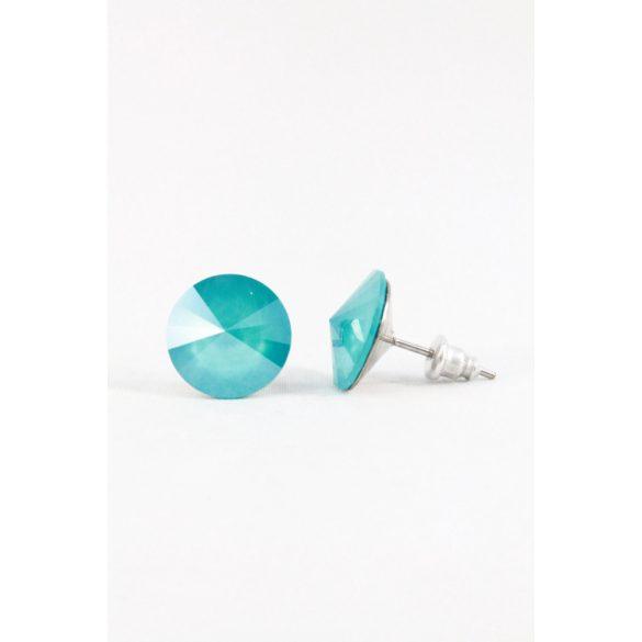 Nemesacél Swarovski kristályos beszúrós fülbevaló 12mm, világos színek