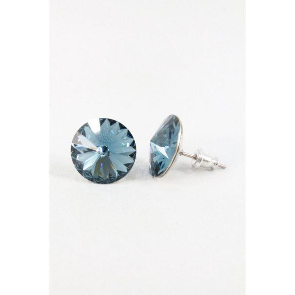 Nemesacél Swarovski kristályos beszúrós fülbevaló 14mm