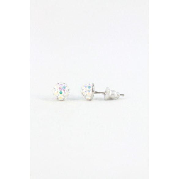 Nemesacél Swarovski aprókristályos beszúrós fülbevaló 6mm, Világos színek