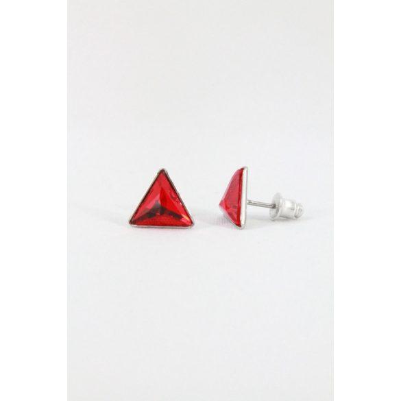 Nemesacél Swarovski nagykristályos Háromszög fülbevaló