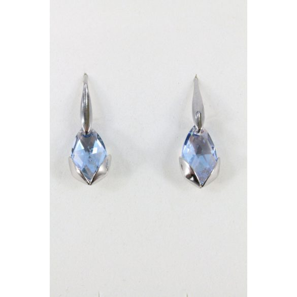 Nemesacél Swarovski kristályos Inga fülbevaló