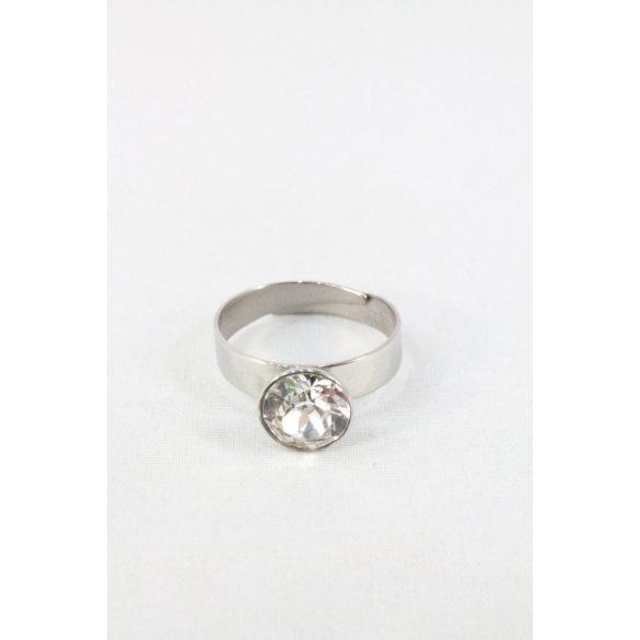 Nemesacél Swarovski pötty kristályos gyűrű, felnőtt