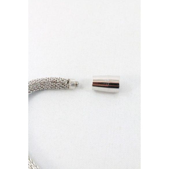 Nemesacél Swarovski kristályos cserélhető Charmos karkötő